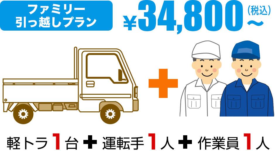 ワンルーム引っ越しプラン¥15,000~